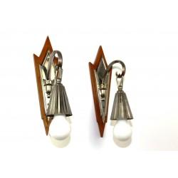 Paar Wandlampen Peche Stil, um 1915