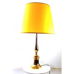 XL-Tischlampe mit Bronzefuß, vergoldet