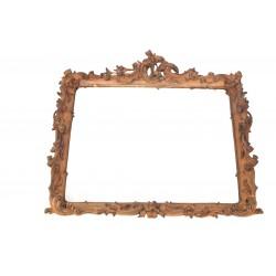 geschnitzter Barockrahmen mit Spiegel
