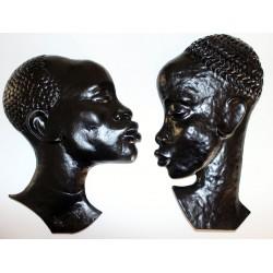 Wandmasken Paar Afrikaner