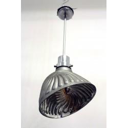 2 Bauhaus Industrielampen innen verspiegelt, um 1930