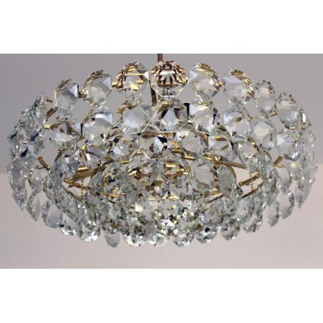 Bakalowits Kristall-Kronleuchter vergoldet