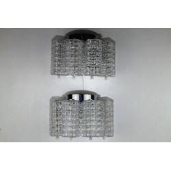 Paar Stölzle Wandlampen, Glas, 1960er